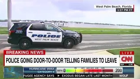 CNN: West Palm Beach Police going Door-to-Door telling Families to Leave (Hurricane Irma)