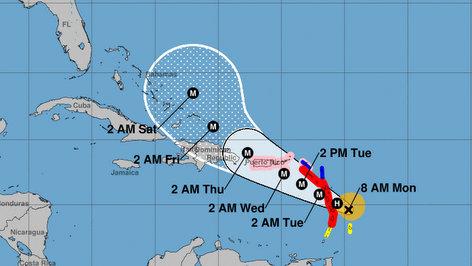 Hurricane Maria Hurricane Maria near Dominican Republic & Haiti