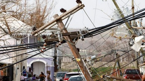 PHOTO: Hurricane Maria destroys electricity grid