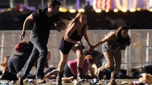 Las Vegas mass shooting, Concert goers running for their lives.