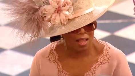 Oprah Winfrey at the The royal wedding of Prince Harry and Meghan Markle